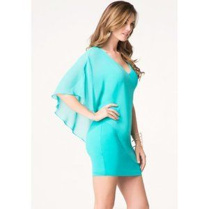 🌸HP🌸Bebe Aqua Flutter Sleeve Night Out Dress